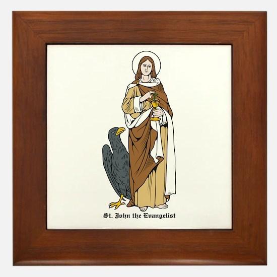 St. John the Evangelist Framed Tile