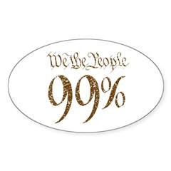 we the people 99% vintage Sticker (Oval 50 pk)