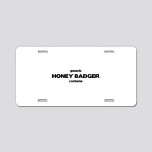 Generic HONEY BADGER Costume Aluminum License Plat