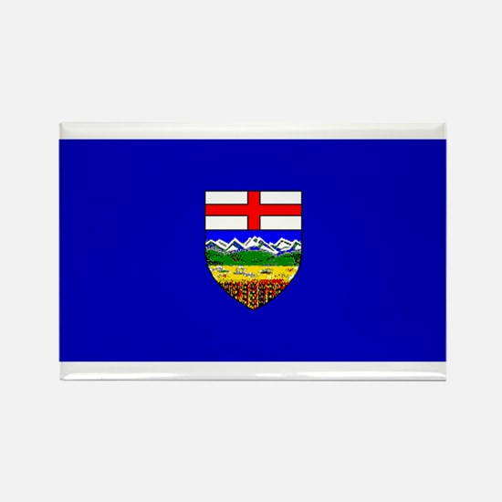 Alberta Albertan Blank Flag Rectangle Magnet