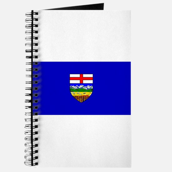 Alberta Albertan Blank Flag Journal