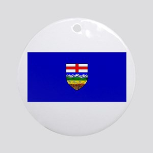Alberta Albertan Blank Flag Christmas Ornament