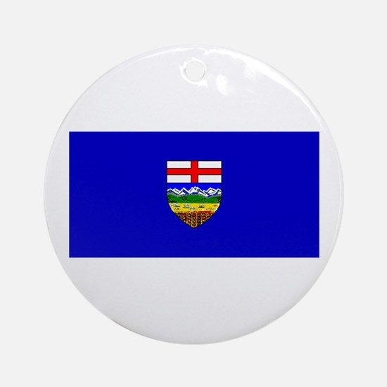 Alberta Albertan Blank Flag Christmas Ornament