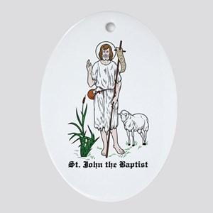 St. John the Baptist Oval Ornament