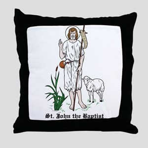 St. John the Baptist Throw Pillow