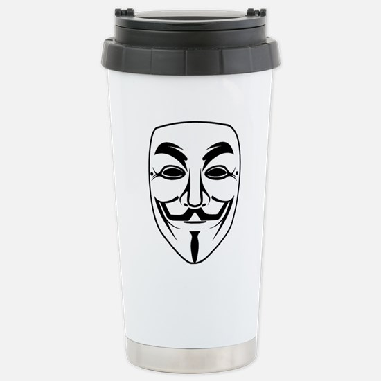 Anonymous Face Stainless Steel Travel Mug