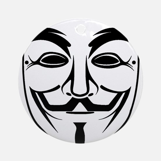 Anonymous Mask Ornament (Round)
