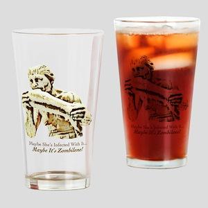 Zombilene! Menschenfresserin Drinking Glass