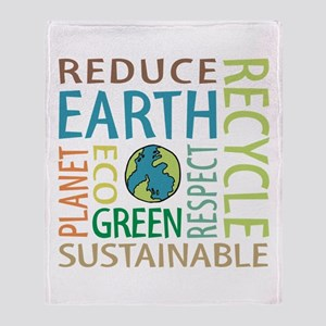 Earth Day Throw Blanket