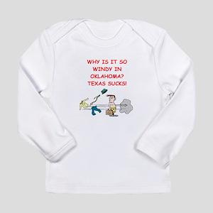i hate texas Long Sleeve Infant T-Shirt