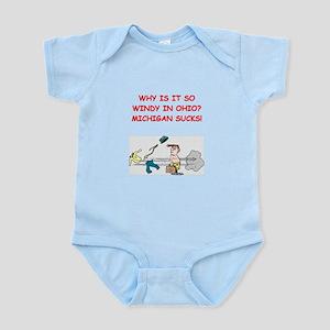 i hate michigan Infant Bodysuit