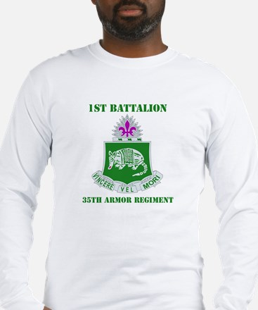 DUI - 1st Bn - 35th Armor Regt with Text Long Slee