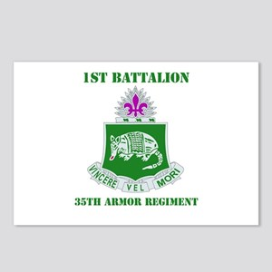 DUI - 1st Bn - 35th Armor Regt with Text Postcards