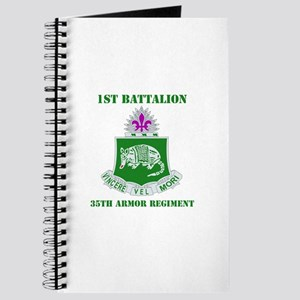 DUI - 1st Bn - 35th Armor Regt with Text Journal
