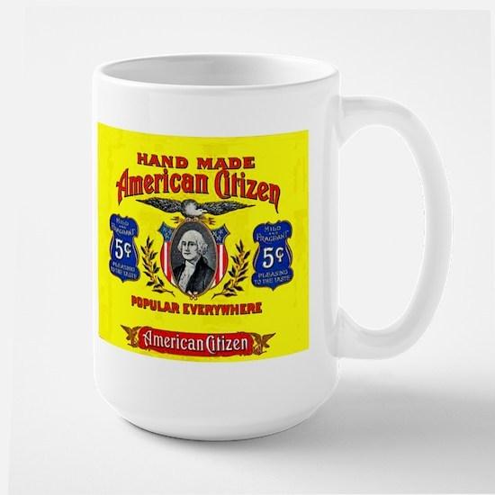 American Citizen Cigar Label Large Mug