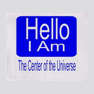 center of universe Throw Blanket