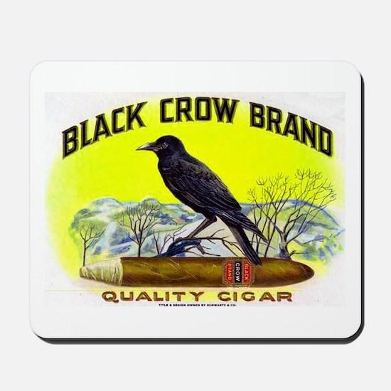 Black Crow Cigar Label Mousepad