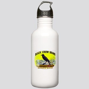 Black Crow Cigar Label Stainless Water Bottle 1.0L