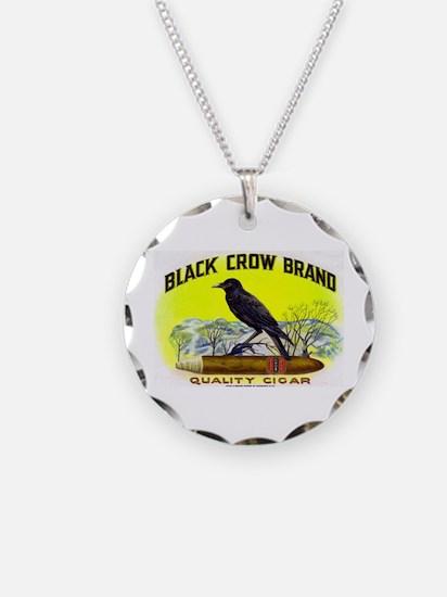 Black Crow Cigar Label Necklace