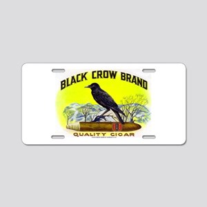 Black Crow Cigar Label Aluminum License Plate