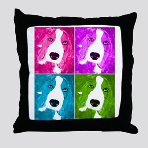 Colorful Basset Throw Pillow