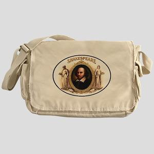Shakespeare Cigar Label Messenger Bag