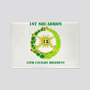 DUI - 1st Sqdrn - 13th Cav Regt with Text Rectangl