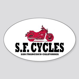 S.F. CYCLES Oval Sticker