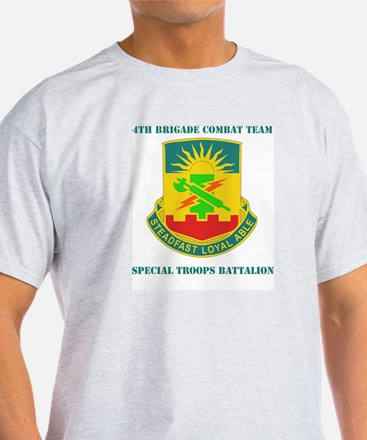 DUI - 4th BCT - Special Troops Bn with Text T-Shirt