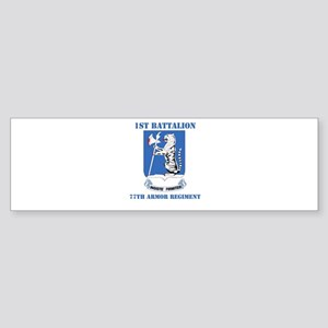 DUI - 1st Bn - 77th Armor Regt with Text Sticker (