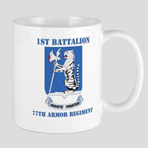 DUI - 1st Bn - 77th Armor Regt with Text Mug