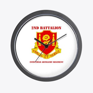 DUI - 2nd Bn - 29th FA Regt with Text Wall Clock