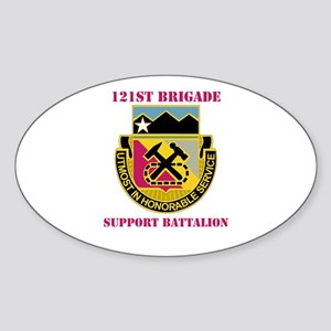 DUI - 121st Bde - Support Bn with Text Sticker (Ov