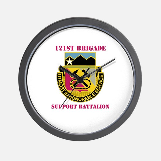 DUI - 121st Bde - Support Bn with Text Wall Clock