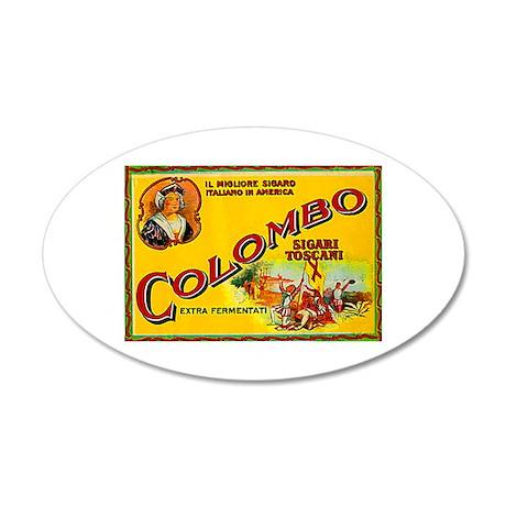 Colombo Cigar Label 38.5 x 24.5 Oval Wall Peel