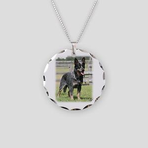 Australian Cattle Dog 9Y749D-017 Necklace Circle C