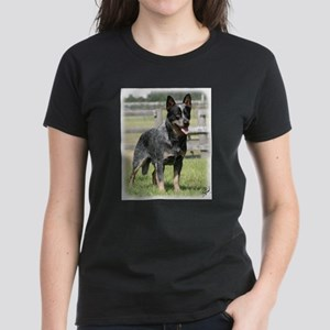 Australian Cattle Dog 9Y749D-017 Women's Dark T-Sh