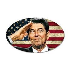 Reagan Flag... 38.5 X 24.5 Oval Wall Peel