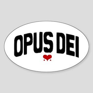OPUS DEI Oval Sticker