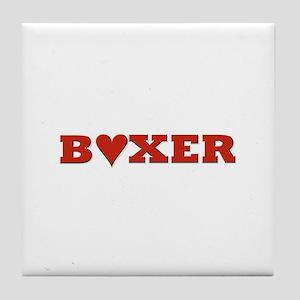 Boxer Lover! Tile Coaster