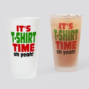 Oh Yeah Tee Shirt Time Drinking Glass