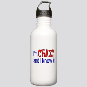 Crazy and I Know It Stainless Water Bottle 1.0L