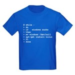 while : do if windows... Kids Dark T-Shirt