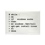 while : do if windows... Rectangle Magnet (100 pac