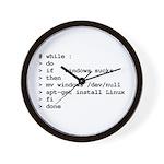 while : do if windows... Wall Clock