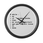 while : do if windows... Large Wall Clock