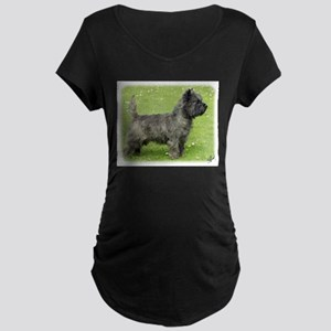 Cairn Terrier 9Y004D-024 Maternity Dark T-Shirt