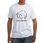 Baaaa Means Nooo! Fitted T-Shirt