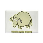 Baaaa Means Nooo! Rectangle Magnet (100 pack)