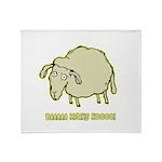 Baaaa Means Nooo! Throw Blanket